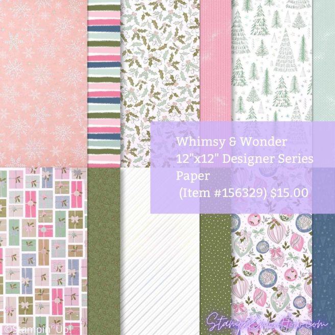 Stampin' Up Whimsy & Wonder Designer Series Paper
