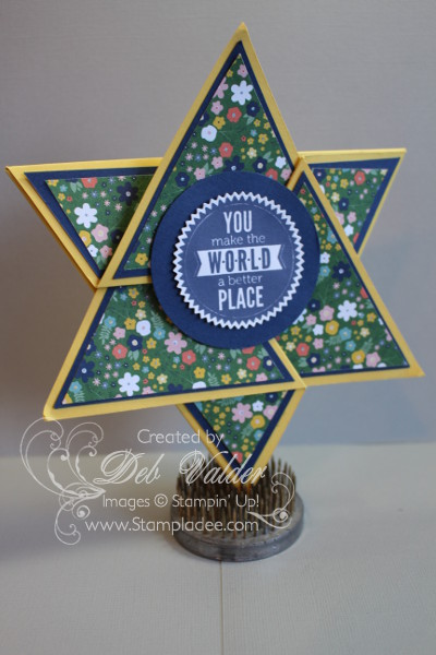 Origami Triangle Star Card With Deb Valder Deb Valder