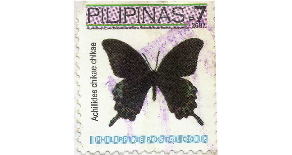 2007 butterfly stamp from the Philippines