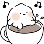 Cute whipped cream!(animation)