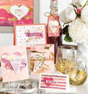 painted with love, valentines day, valentine class, stampin' up!, stampmecrafty.com, terri george