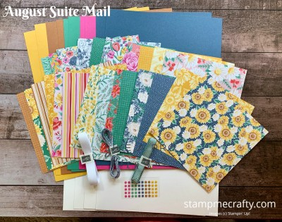 Suite Mail, August, Flowers for Every Season, Stamp Me Crafty