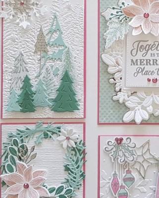Whimsical Christmas Sampler, annual christmas sampler, stampin up, sampler class, terri george, stamp me crafty