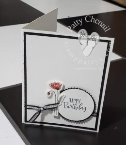Poppy Elements to create a quick, simple, but elegant birthday card….