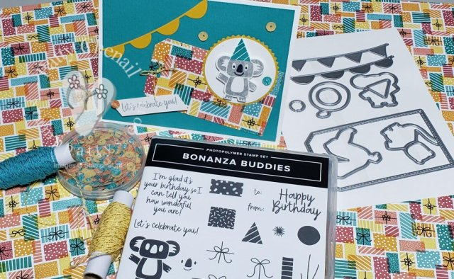 Bonanza Buddies is the perfect product suite for the littles in your life.  Create adorable projects in fun colors to bring a smile to the face of your kids!