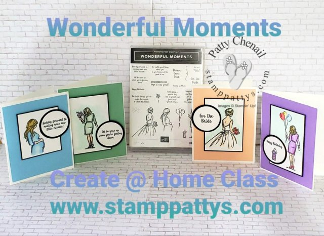 Using the Wonderful Moments stamp set, these simple but elegant projects were created! Get this set as part of my May Class to Go right now! Class includes stamps, all project materials, PDF that contains all measurements and step by step instructions!