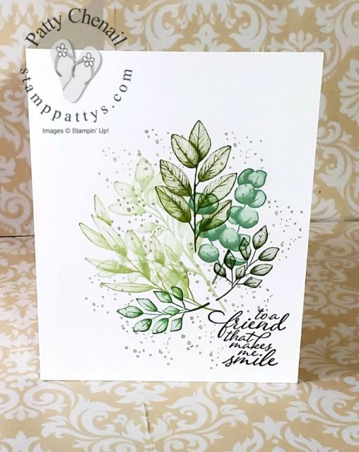 #simplestamping using the Forever Fern stamp set available from Stampin' Up! beginning June 3, 2020.  Stamps, ink, and paper alone created this masterpiece!