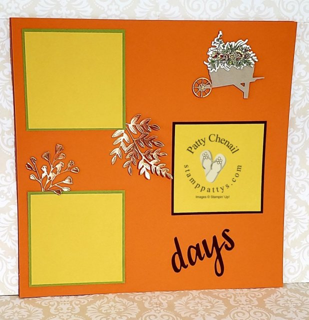 Using the Autumn Goodness Bundle and some Stampin' Blends from the Stampin' Up! August to December catalog you can create this awesome scrapbook layout as well  as many other projects!
