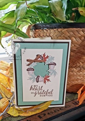 Using products from the Beautiful Autumn bundle, this project was created to share how grateful you are for others.  Be sure to check out the details of this project on my blog.