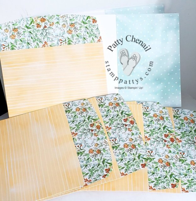 Using the You're a Peach product suite and combining it with the Hand Penned memories and more cards and envelopes, this sweet summer project came to life.  July and peaches scream summer to me!