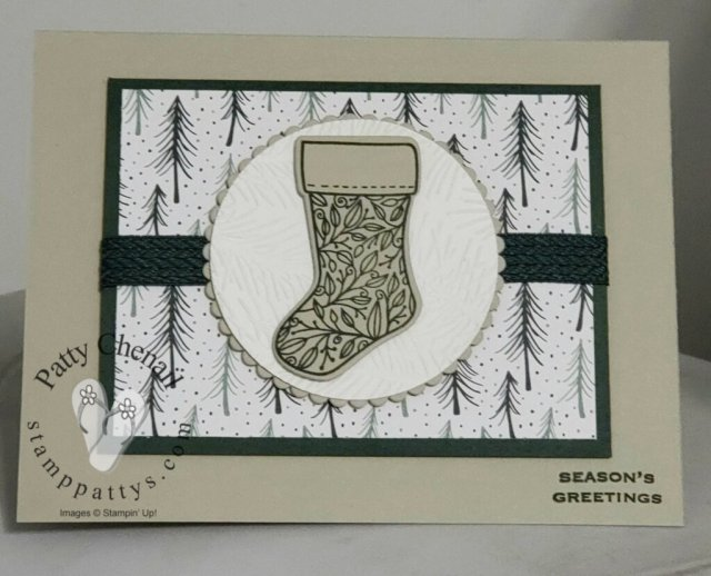 Using the Tidings of Christmas bundle from the Stampin' Up! 21-22 annual catalog, I created this awesome holiday project.  You can find all of the supplies on page 88-89 of the catalog.