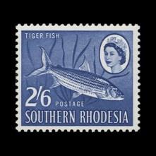 2s 6d Tigerfish missing vermilion