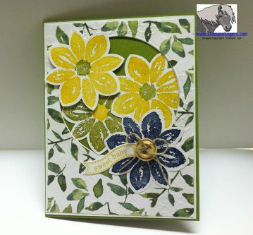 Green and Yellow Sweet Baby Card Front 2 Watermarked