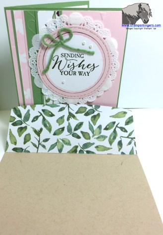 Sending Wishes with envelope watermarked