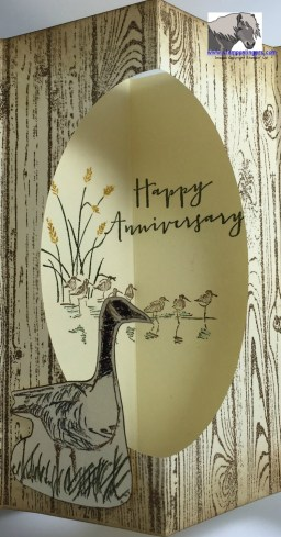 Anniversary Tunnel Card Inside closeup watermarked