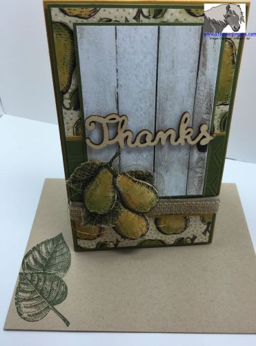 Farmer's Market Thanks MM 408 Card and Envelope watermarked