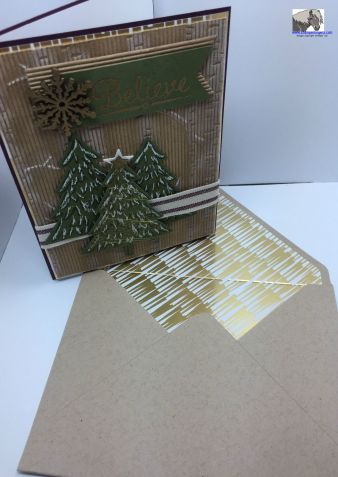 Believe Perfect Pine card and envelope watermarked
