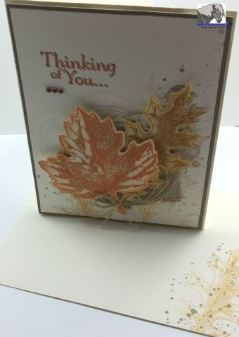Vintage Leaves Sorrow Card and Envelope watermarked