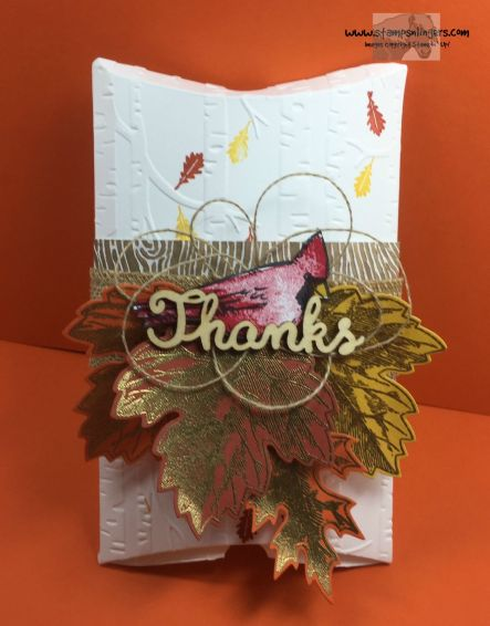 Joyful Seasons Vintage Leaves Pillow Box 1