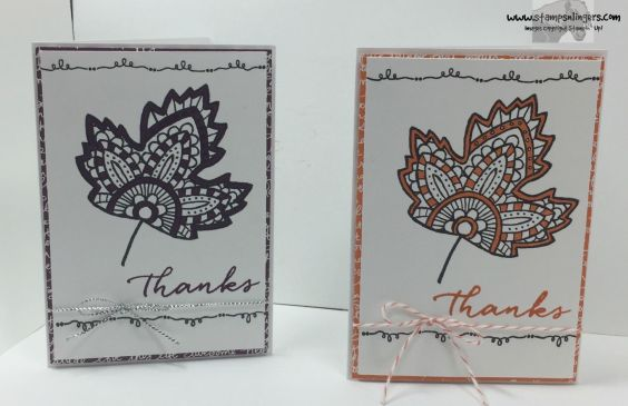 Lighthearted Leaves Thanks 3 - Stamps-N-Lingers