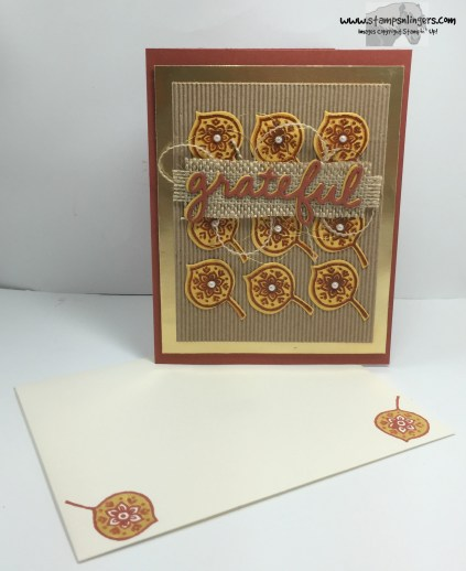 Lighthearted Leaves Grateful 9 - Stamps-N-Lingers