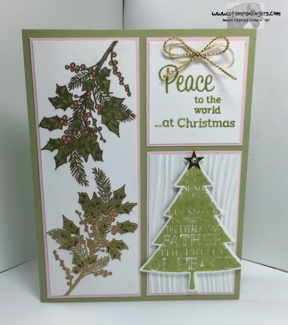 Peaceful Wreath Peaceful Pines 1 - Stamps-N-Lingers