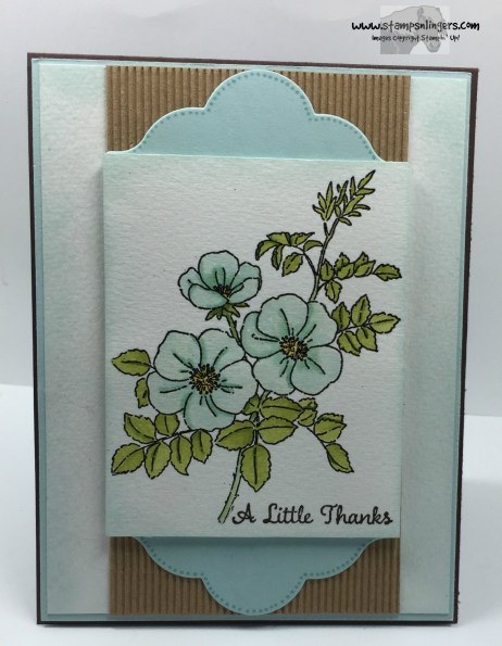Sweetbriar Rose Thanks 2 - Stamps-N-Lingers