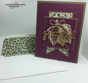 Vintage Leaves Seasonal Frame 11 - Stamps-N-Lingers