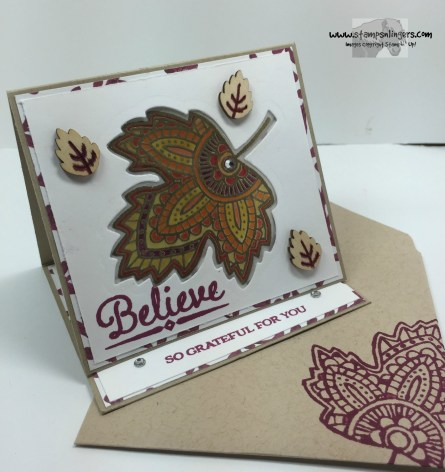 Lighthearted Leaves Glow Card 4 - Stamps-N-Lingers