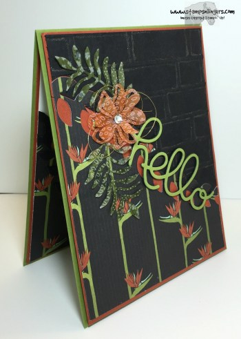 Botanical Hello 3 - Stamps-N-Lingers