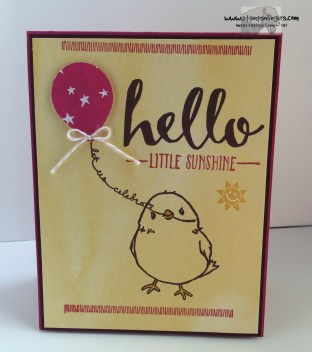 Hello Little Sunshine 1 - Stamps-N-Lingers