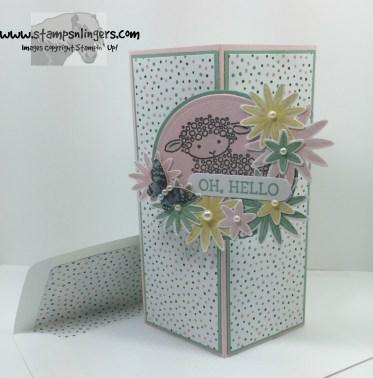 Honeycomb Hello Lamb Fun Fold 6 - Stamps-N-Lingers