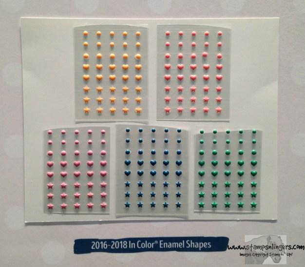 2016-2018 In Color Enamel Shapes - Stamps-N-Lingers