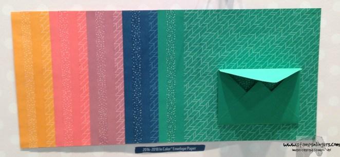 2016-2018 In Color Envelope Paper - Stamps-N-Lingers