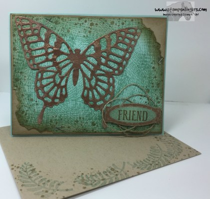Awesomely Artisitc Copper Butterfly 8 - Stamps-N-Lingers