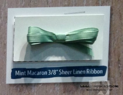 Mint Macaron 38 Sheer Linen Ribbon - Stamps-N-Lingers