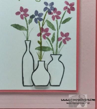 Vivid Vases Number of Years 8 - Stamps-N-Lingers