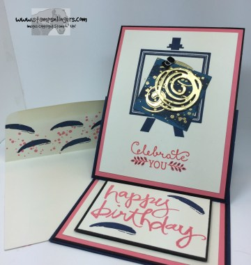 Painters Palette Easel Card 7 - Stamps-N-Lingers
