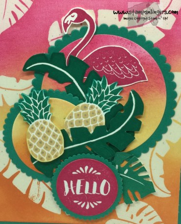 Pop of Paradise Hello 8 - Stamps-N-Lingers