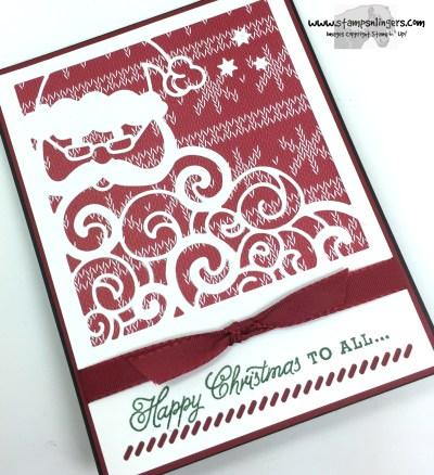 Greetings From Detailed Santa 4 - Stamps-N-Lingers