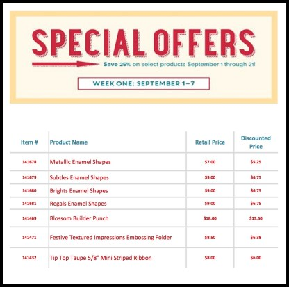 Special Offers 1 - 7 Sept 16