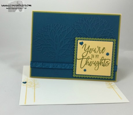 Thoughtful Branches Embossed Panel 6 - Stamps-N-Lingers