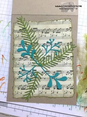 Wonder of Christmas Pines in progress 2 - Stamps-N-Lingers