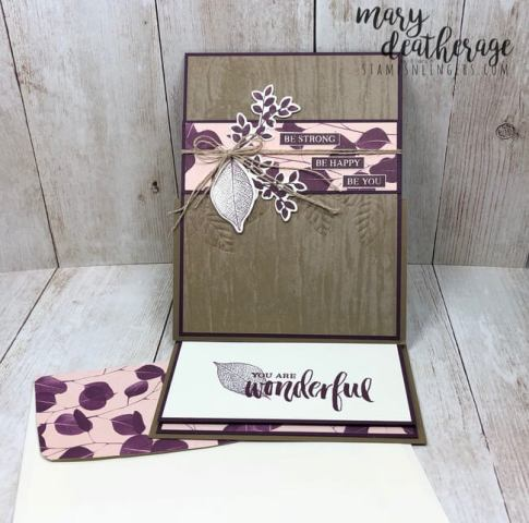 Stampin Up Nature S Poem Easel Card For The Stamp Ink