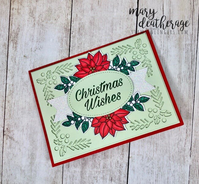 Peaceful Poinsettia stamp set | Stamps – n - Lingers