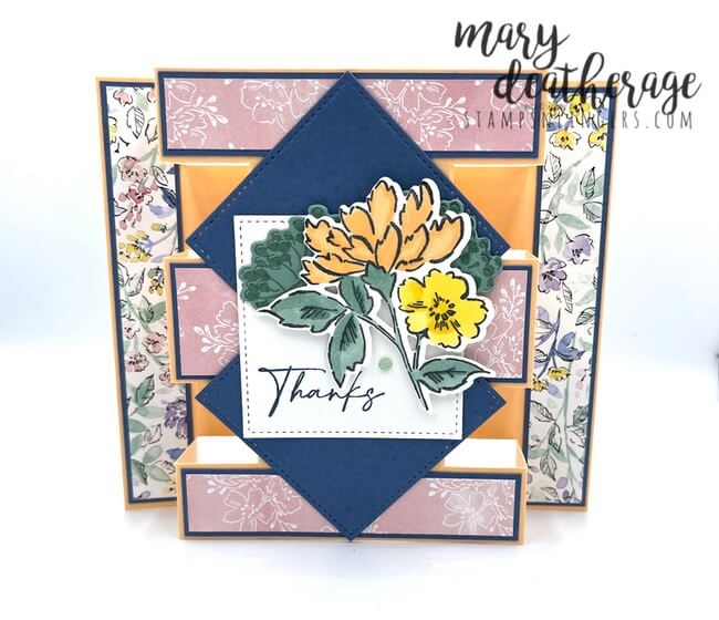 Hello Spring Floral Nail Set Gift Envelope or Peek-a-boo PDF