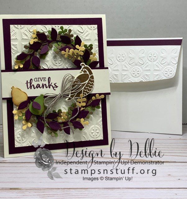 Beautiful fall 3-d card for Thanksgiving season