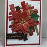 christmas card made with Poinsettia Petals by Stampin