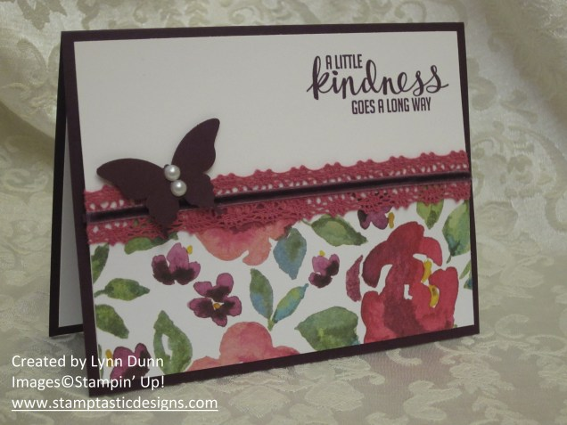 painted blooms card