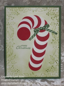 candy cane punch art